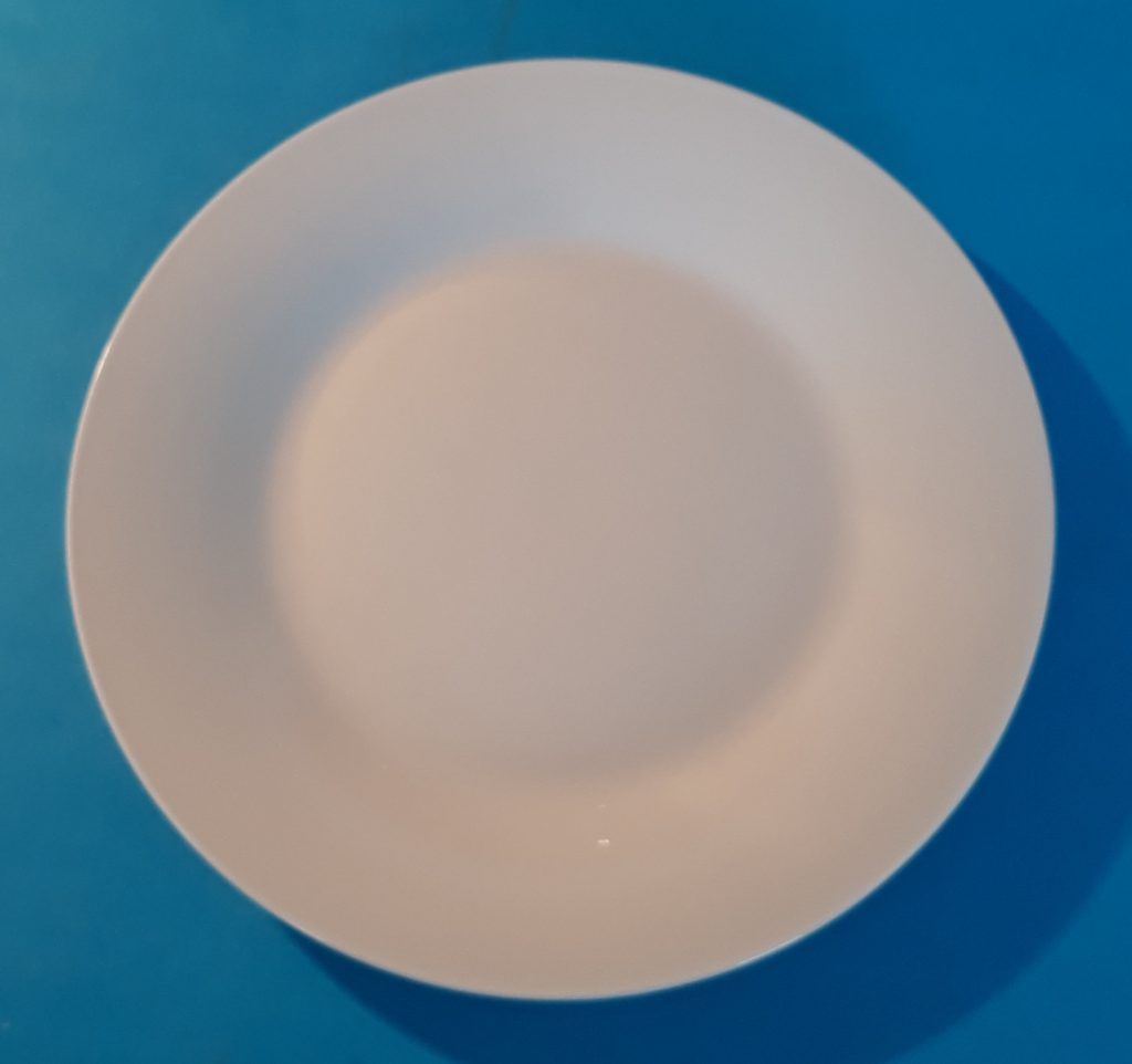 Small White Plate Image